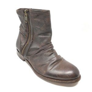 John Fluevog Ankle Boots Shoe Size 8 Brown Leather